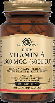 Сухой витамин А 1500 мкг (5000 МЕ)